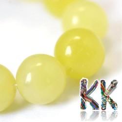 Přírodní citronový nefrit - ∅ 8 mm - kulička