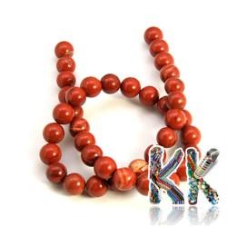Přírodní červený jaspis - ∅ 8 mm - kulička