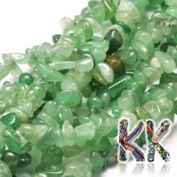 Přírodní zelené avanturínové zlomky - 4-12 x 4-7 x 2-5 mm - váha 5 g (cca 8,5 cm)