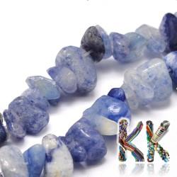 Přírodní modré avanturínové zlomky - 4-12 x 4-7 x 2-5 mm - váha 5 g (cca 8,5 cm)