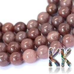 Přírodní fialový avanturín - ∅ 4 mm - kulička