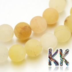 Přírodní zmatnělý žlutý avanturín - ∅ 8 mm - kulička