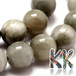 Přírodní šedé sokolí oko - ∅ 8 mm - kulička