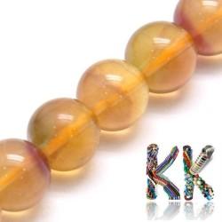 Přírodní žlutý fluorit - ∅ 8 mm - kulička