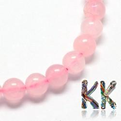 Přírodní růženín - ∅ 4 mm - kulička