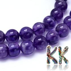 Přírodní ametyst - ∅ 4 mm - kulička - kvalita AB