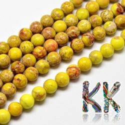 Přírodní regalit - ∅ 8 mm - barvené kuličky