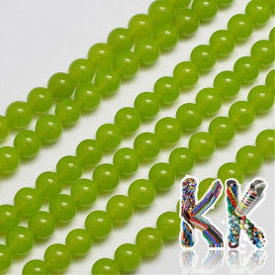 Přírodní malajský nefrit - ∅ 8 mm - barvené kuličky