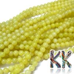 Přírodní citronový nefrit - ∅ 6 mm - kulička