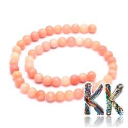 Přírodní růžový opál - ∅ 8 mm - kulička
