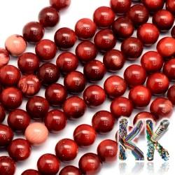 Přírodní červený korál - ∅ 6 mm - dobarvené kulička