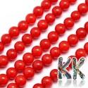 Přírodní malajský nefrit - ∅ 6 mm - barvené kuličky