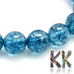 Přírodní kyanit - ∅ 8 mm - dobarvované kuličky