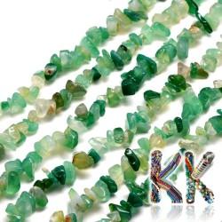 Přírodní zelený onyx - zlomky - 5-8 mm - váha 5 g (cca 8,5 cm)