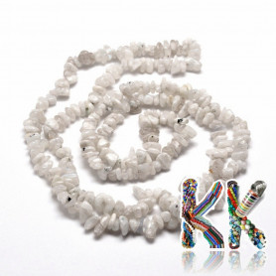 Přírodní bílý nefrit - zlomky - 5-8 mm - 5 g