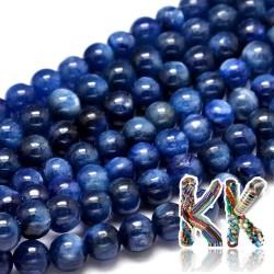 Přírodní kyanit - ∅ 6 mm - kulička - kvalita A