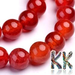 Přírodní praskaný červený achát - ∅ 8 mm - kulička - kvalita A