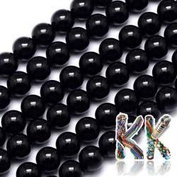 Přírodní černý turmalín - ∅ 8 mm - kulička - kvalita AB+