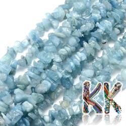 Přírodní akvamarín - zlomky - 5-8 mm - váha 5 g (cca 8,5 cm)