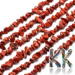 Přírodní červený jaspis - zlomky - 5-8 mm - váha 5 g (cca 8,5 cm)