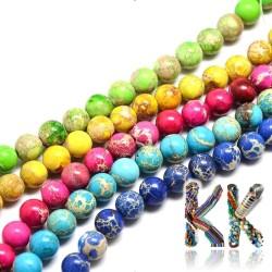 Přírodní regalit - ∅ 6 mm - barvené kuličky