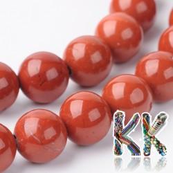 Přírodní červený jaspis - ∅ 6 mm - kulička