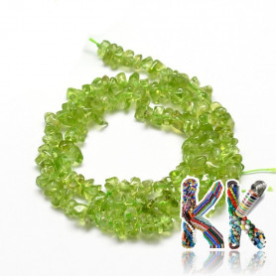 Přírodní olivín - zlomky - 5-14 x 4-10 mm - 5 g