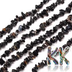 Přírodní onyx - zlomky - 5-8 mm - váha 5 g (cca 8,5 cm)