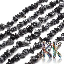 Přírodní vločkový obsidián- zlomky - 5-8 mm - váha 5 g (cca 8,5 cm)