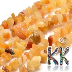 Přírodní žlutý avanturín - zlomky - 5-8 mm - 5 g