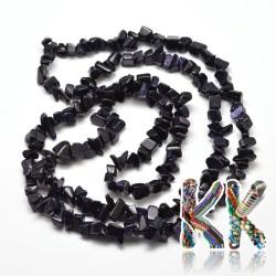 Syntetický temně modrý sluneční kámen - zlomky - 5-8 mm - 5 g