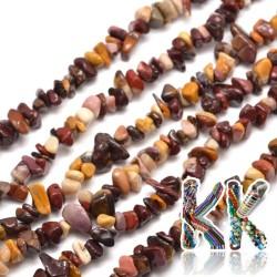 Přírodní mookait - zlomky - 5-8 mm - 5 g
