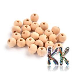 Dřevěný korálek - kulička - ∅ 8 mm