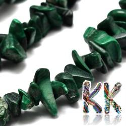 Přírodní malachit - zlomky - 5 x 8 mm - 5 g