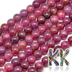 Přírodní rubín - ∅ 6 mm - kuličky