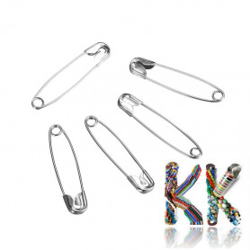 Zavírací špendlíky - 38 x 8 x 3 mm - box cca 50 ks