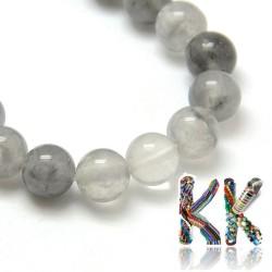 Přírodní šedý křemen - ∅ 10 mm - kulička