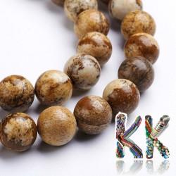 Přírodní obrázkový jaspis - ∅ 10 mm - kulička