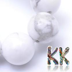 Přírodní howlit - ∅ 10 mm - kulička