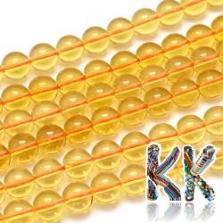 Přírodní citrín - ∅ 10 mm - kulička - kvalita AA