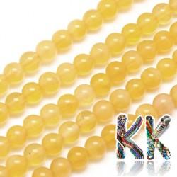 Přírodní oranžový kalcit - ∅ 6 mm - kuličky