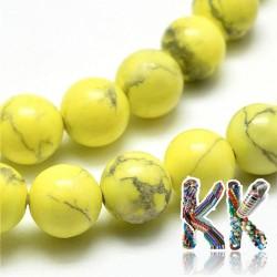 Přírodní howlit - ∅ 8 mm - barvené kuličky