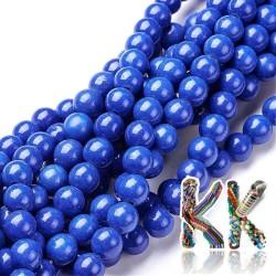 Syntetický modrý howlit - ∅ 8 mm - kulička