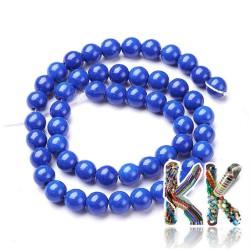 Syntetické howlitové korálky - modré - ∅ 8 mm - kulička