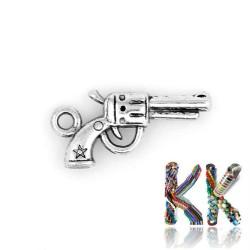 Přívěsek pistole - 22 x 11 x 3 mm