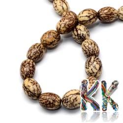 Bodhi korálky - 13-15 x 11-12 mm
