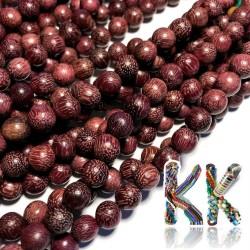 Korálky z červeného santalového dřeva - ∅ 8 mm - kulička
