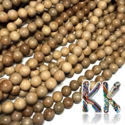 Korálky z kafrového dřeva - ∅ 8 mm - kulička