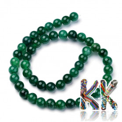 Přírodní praskaný zelený achát - ∅ 8 mm - kulička - kvalita A