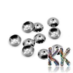 304 Nerezový kaplík - čepička - ∅ 6 x 2 mm